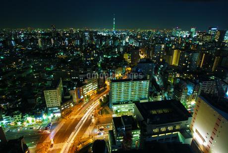 スカイツリーと東京の街並みの写真素材 [FYI01254524]