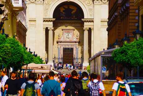 ハンガリー・ブダペストの街並みの写真素材 [FYI01254630]