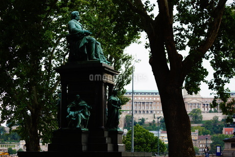 ハンガリー・ブダペストの街並みの写真素材 [FYI01254631]