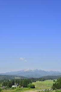 すがすがしい平泉荘園 骨寺の水田の写真素材 [FYI01255089]