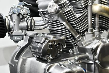 大型バイクのエンジンの写真素材 [FYI01255162]