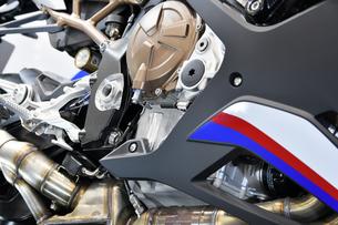 大型バイクのエンジンの写真素材 [FYI01255163]