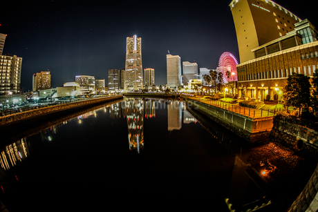 横浜の夜景の写真素材 [FYI01255169]