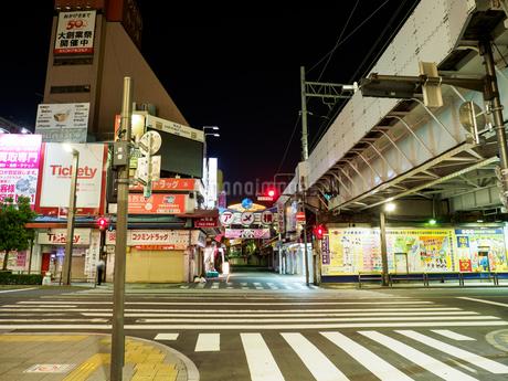 上野アメ横 夜景の写真素材 [FYI01255292]