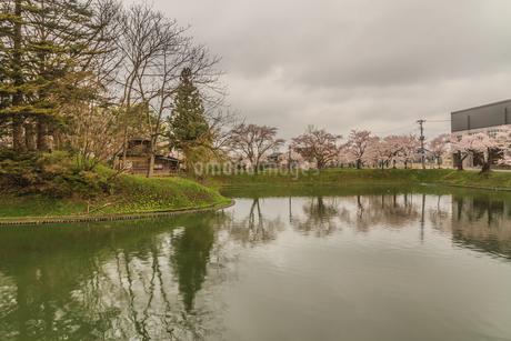春の新庄城跡の風景の写真素材 [FYI01255475]