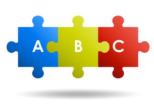 3ピースパズル ビジネスアイコンのイラスト素材 [FYI01255880]