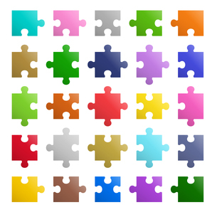25ピースパズル アイコンのイラスト素材 [FYI01255887]
