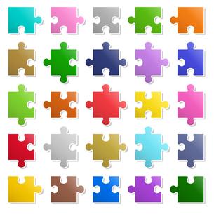 25ピースパズル アイコンのイラスト素材 [FYI01255888]