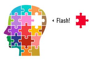 パズルと顔(フラッシュイメージ)のイラスト素材 [FYI01255893]