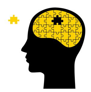 パズルと脳 顔のイラスト素材 [FYI01255894]