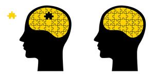 パズルと脳 顔のイラスト素材 [FYI01255895]