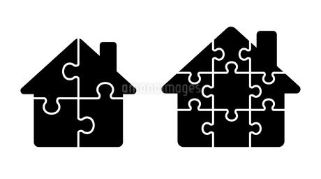 パズルの家のアイコンのイラスト素材 [FYI01255897]