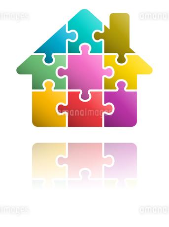 パズルの家のアイコンのイラスト素材 [FYI01255899]