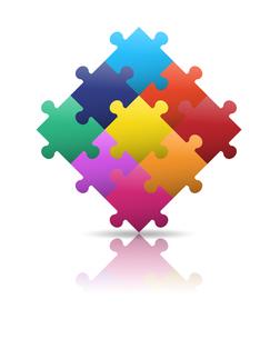 9ピース パズルイメージのイラスト素材 [FYI01255901]