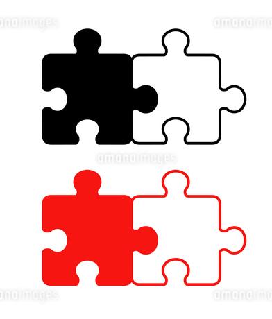 2ピースパズル セットのイラスト素材 [FYI01255930]