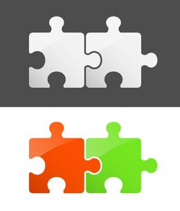 2ピースパズル セットのイラスト素材 [FYI01255931]
