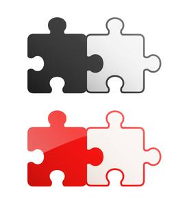 2ピースパズル セットのイラスト素材 [FYI01255932]