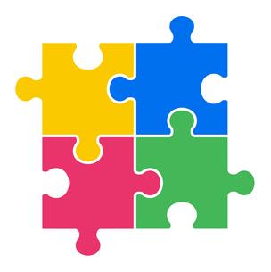 4ピースパズルのイラスト素材 [FYI01255933]