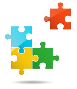 4ピースパズルのイラスト素材 [FYI01255935]