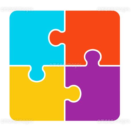 4ピースパズルのイラスト素材 [FYI01255936]