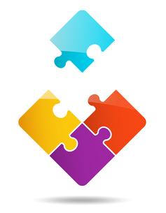 4ピースパズルのイラスト素材 [FYI01255939]