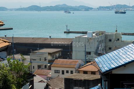海の見える街並みの写真素材 [FYI01256032]