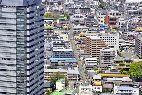 仙台市遠望 仙台駅付近より市内を望むの写真素材 [FYI01256138]