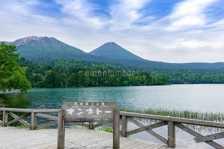 静寂の湖オンネトーの写真素材 [FYI01256338]