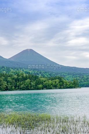 静寂の湖オンネトーの写真素材 [FYI01256341]