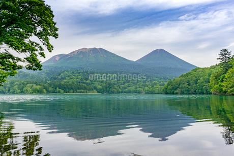 静寂の湖オンネトーの写真素材 [FYI01256342]
