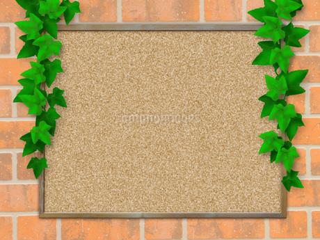コルクボード フレーム 掲示板 案内板 告知板 アイビー つる草 ボードのイラスト素材 [FYI01256344]