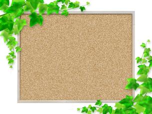 コルクボード フレーム 掲示板 案内板 告知板 アイビー つる草 ボードのイラスト素材 [FYI01256346]