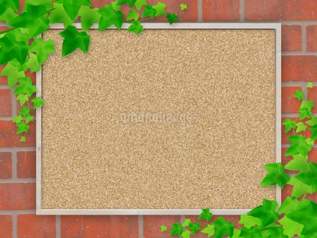 コルクボード フレーム 掲示板 案内板 告知板 アイビー つる草 ボードのイラスト素材 [FYI01256347]
