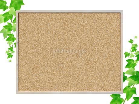 コルクボード フレーム 掲示板 案内板 告知板 アイビー つる草 ボードのイラスト素材 [FYI01256350]