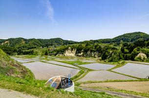 山形県 四ヶ村の棚田の写真素材 [FYI01256367]
