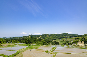 山形県 四ヶ村の棚田の写真素材 [FYI01256373]