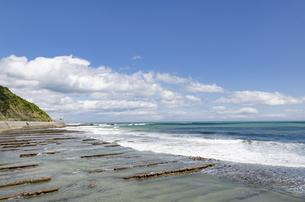 青空の日南海岸の写真素材 [FYI01256374]