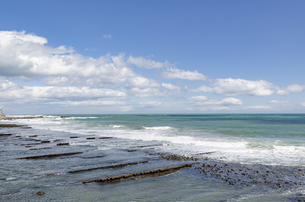 青空の日南海岸の写真素材 [FYI01256375]