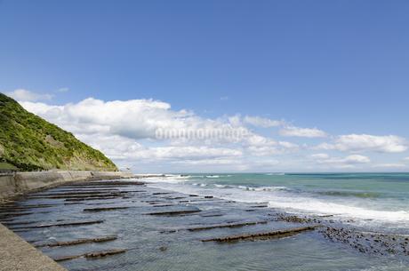 青空の日南海岸の写真素材 [FYI01256376]