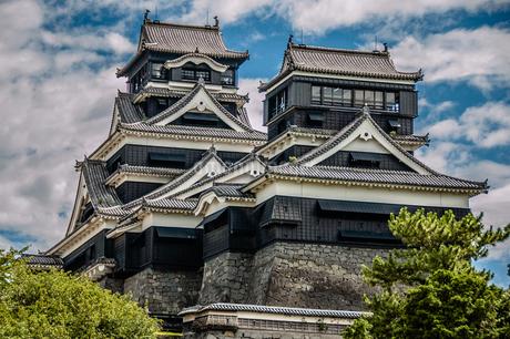 Kumamoto castle in Kumamoto, Japanの写真素材 [FYI01257307]