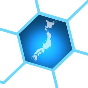 ビジネス背景 日本経済 ネットワーク ビッグデータ AI 経済 貿易 ビジネスイメージのイラスト素材 [FYI01257426]