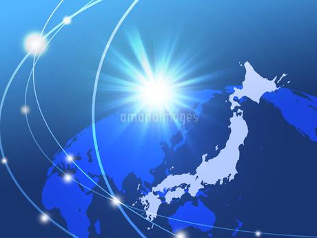 ビジネス背景 日本経済 ネットワーク ビッグデータ AI 経済 貿易 ビジネスイメージのイラスト素材 [FYI01257427]