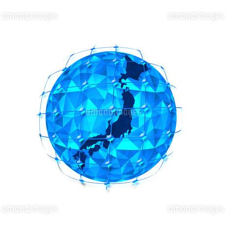 ビジネス背景 日本経済 ネットワーク ビッグデータ AI 経済 貿易 ビジネスイメージのイラスト素材 [FYI01257431]