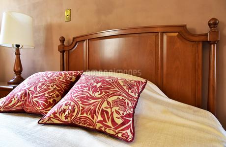 寝室の寝具の写真素材 [FYI01257541]