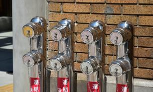 日本の屋外にある消火栓の写真素材 [FYI01257578]