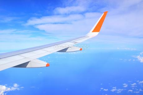 飛行機の翼の写真素材 [FYI01257590]