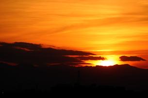 日没の空の写真素材 [FYI01257660]
