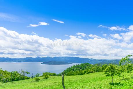 爽快 北海道 藻琴山展望台の写真素材 [FYI01257985]