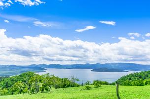 爽快 北海道 藻琴山展望台の写真素材 [FYI01257988]