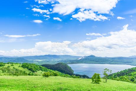 爽快 北海道 藻琴山展望台の写真素材 [FYI01257994]
